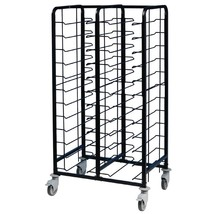 EAIS Powder Coated Enamel Clearing Trolley 24 Shelves Commercial Cafe Re... - $461.95