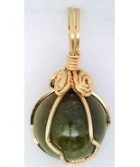 Fancy Jasper Gold Wire Wrap Pendant 27 - $44.00