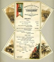 1879 Palmer House 13th Annual Banquet Menu Society of the Army of Tennessee - $3,465.00