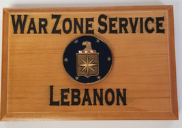 Central Intelligence Agency War Zone Service Lebanon Beveled Edge Wall P... - $49.49
