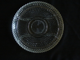 """Beautiful Indiana Glass Diamond Point Divided 12 """" Serving Dish  - $14.00"""