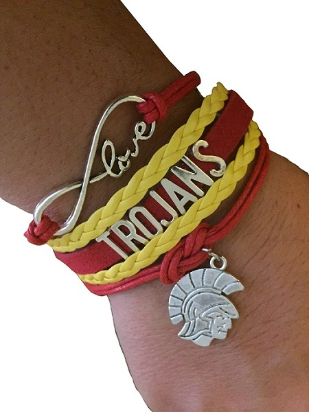University of Southern California USC Trojans Fan Shop Infinity Bracelet Jewelry