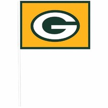Green Bay Packers NFL Pro Football Sports Banquet Party Favor Plastic Flags - $10.66