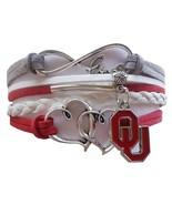 University of Oklahoma OU Sooners Fan Shop Infinity Hearts Bracelet Jewelry - $12.99