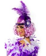 Lilac Curly Flapper Costume Wig Roaring 20s Carnival Festival Mardi Gras - $19.75