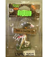 Halloween Lemax Spooky Town Village Reaper's Sign Vulture Enter at your ... - $2.99