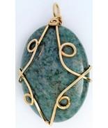 Dumortierite Gold Wire Wrap Pendant 61 - $24.95