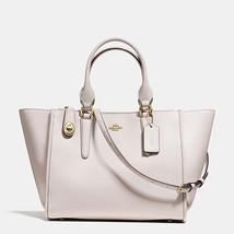 Coach Crosby Light Gold/Chalk Smooth Leather Zip Top Closure Carryall/Ha... - $579.99