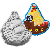 Wilton Pirate Ship Cake Pan Birthday Party Halloween Gasperilla Witch - ₨1,280.54 INR