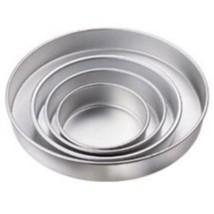 Wilton 4 pc Round Cake Pan Aluminum 6 8 10 12 In Pans Tier Bridal Shower... - ₨3,293.85 INR
