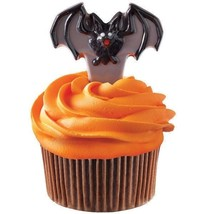 Wilton Candy Mold Bat Picks Cupcake 1 design makes 8 Halloween Day of th... - ₨426.63 INR