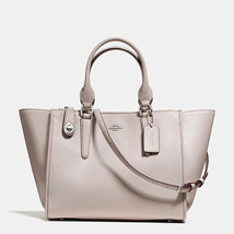 Coach Crosby Silver/Grey Birch Smooth Leather Zip Top Closure Carryall/H... - $579.99