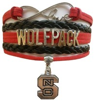 North Carolina State University Wolfpack Fan Shop Infinity Bracelet Jewelry - $12.99