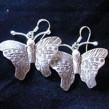 Fashion earrings Hill tribe Genuine silver thai... - $13.10