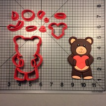 Heart Teddy Bear 100 Cookie Cutter Set - $6.50+