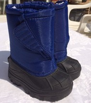 Kid Connection NEW Sz 5 blue Toddler Boots Insulated EUC - $12.20