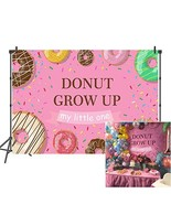 Mehofoto Donut Birthday Backdrop Donut Grow Up Party Backdrops for Birth... - $19.54