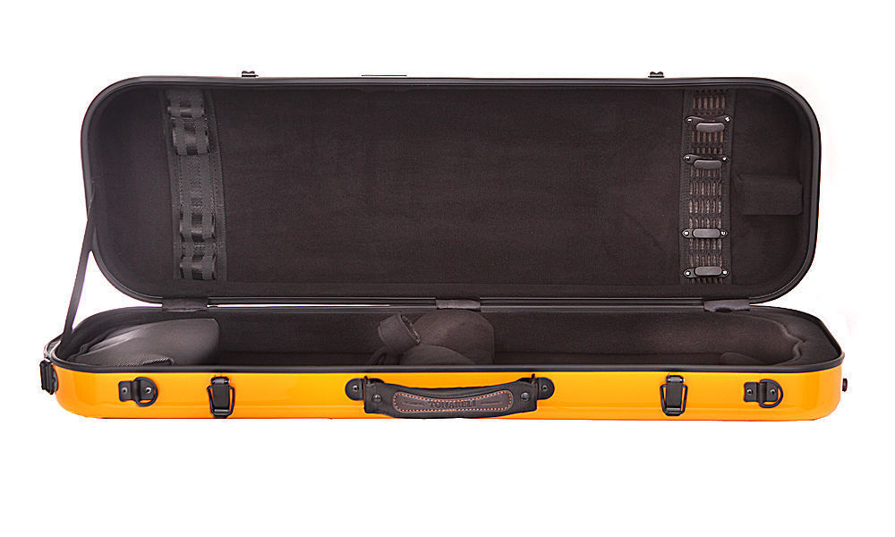 TONARELI Fiberglass Violin 4/4 OBLONG Hard Case - NEW - Choice of colors/styles