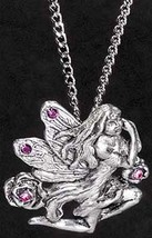 Rose Winged Fairy Pendant - $12.95