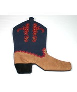 Country Western Christmas Boot Stocking - $12.99