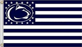 Penn State Nittany Lions College University Stars & Stripes Banner Flag 3'x5' - $19.99