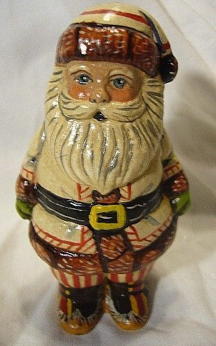 VAILLANCOURT FOLK ART limted  WHITE SANTA  COLLECTORS WEEKEND SIGNED