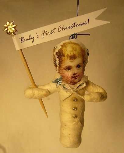 VINTAGE INSPIRED SPUN COTTON BABY'S FIRST XMAS 100G