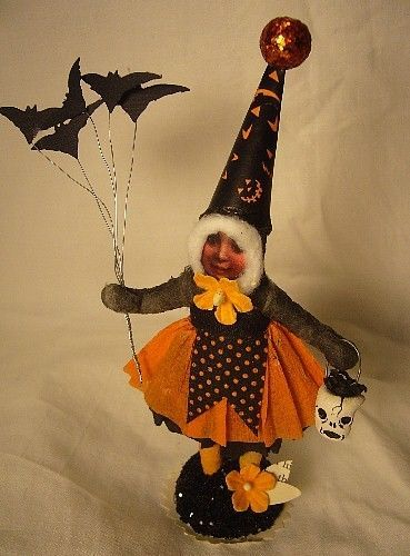VINTAGE INSPIRED BATTY GIRL , HALLOWEEN NO. 249 SPUN COTTON