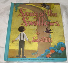 Vtg Song of the Swallows HB w/ Record Leo Politi 1948 - $18.95