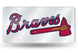 MLB Atlanta Braves Laser License Plate Tag - Silver - $29.39