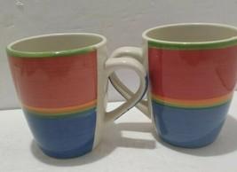 Set Of 2 -ROYAL Norfolk Rainbow Coffee MUGS/CUPS - $9.46