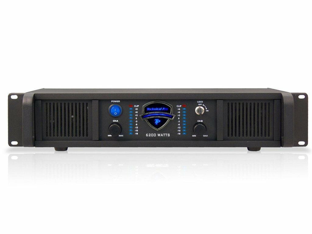 Technical Pro LZ3200 2U Professional 2CH Power Amplifier Black