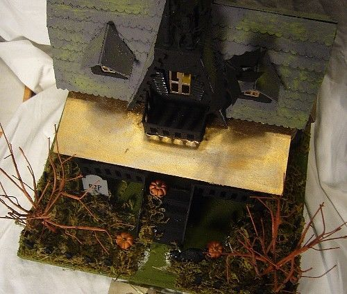 Fabulous Bethany Lowe Halloween Haunted House & Bats includes light