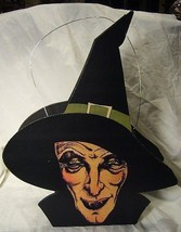 Bethany Lowe Halloween  Haggy Witch Lantern + battery operated tea light - $34.99
