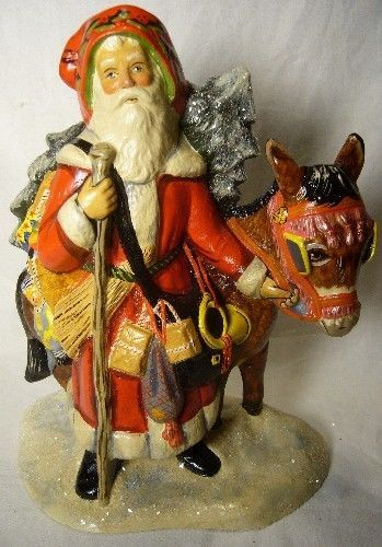 VAILLANCOURT FATHER CHRISTMAS DONKEY SIGNED BY JUDI