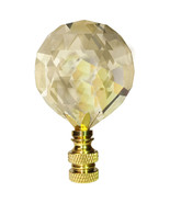 Lamp Finial Swarovski 30mm Golden Teak Faceted Crystal Ball Prism Finial - $23.75