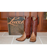 New $550 LUCCHESE Women's Ostrich Leather Weste... - $466.38