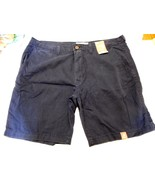 Men's Arizona Flat Front Shorts Williamsburg Navy Size 29 NEW  - $19.79