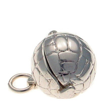 Sterling 925 British Silver Charm Pendant Football Opening To Footballer, Player - $31.86