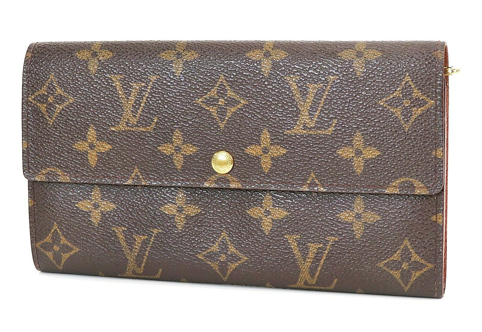 Primary image for Authentic LOUIS VUITTON Sarah Long Wallet Monogram Zippered Coin Purse #38022