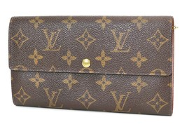 Authentic LOUIS VUITTON Sarah Long Wallet Monogram Zippered Coin Purse #... - $259.00