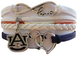 Auburn University Tigers Fan Shop Infinity Hearts Bracelet Jewelry - $12.99