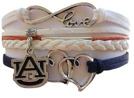 Auburn University Tigers Fan Shop Infinity Hearts Bracelet Jewelry - $12.99