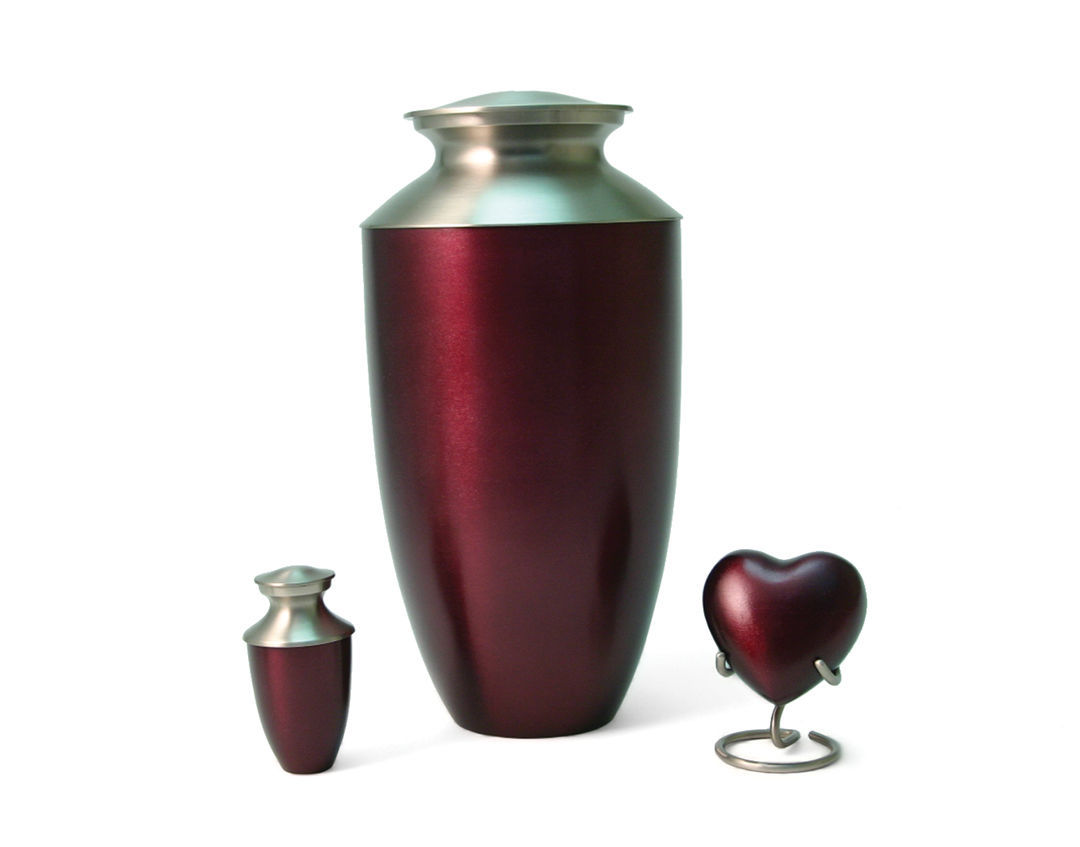 Red 6 Keepsake Set Funeral Cremation Urns for Ashes, 5 Cubic Inches each image 3