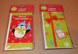 Christmas Money Holders 2 Packs 14 Total 2 Different Types Big Lots 92S - $11.49