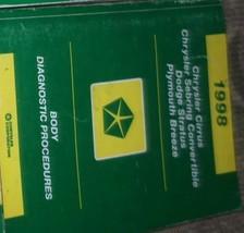 1998 Chrysler Sebring Convertible POWERTRAIN DIAGNOSTIC PROCEDURES Shop ... - $59.38