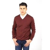 Bordeaux 48 IT - XS US Armani Collezioni mens sweater V neck PCM19M PC01... - $558.09
