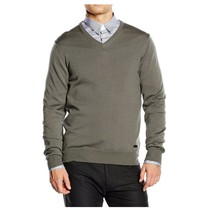 Grey 56 IT - XL US Armani Collezioni mens sweater V neck PCM19M PC01M 515 - $558.09