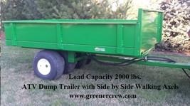 ATV Dump Trailer Construction 2000 lbs Load Capacity GVW - $2,550.00