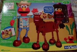 Sesame Street Knex Elmos Cowboy Adventure Building Set Elmo Talks 40 Pie... - $44.99